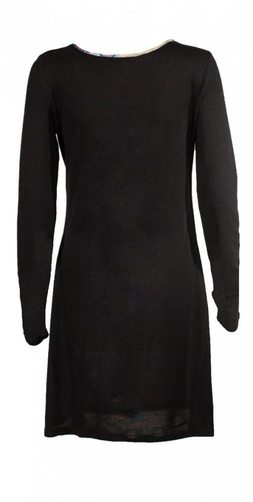 12229 Robe noire et coloree 3 1 -