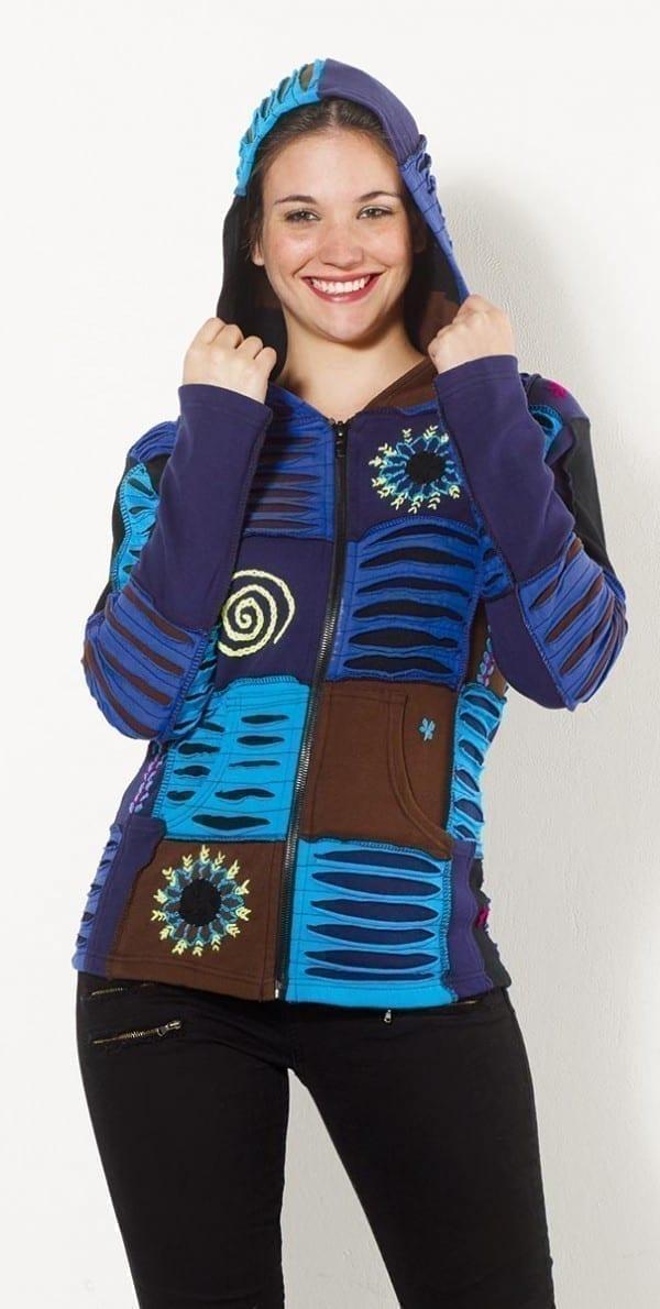 29876 Veste babacool patchwork pour femme 1 -