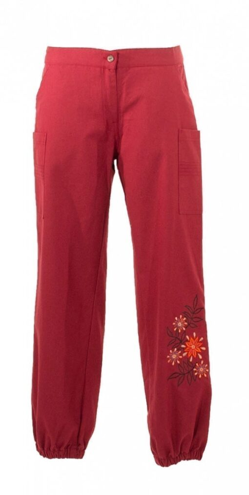 33207 Pantalon femme en toile brode 2 -