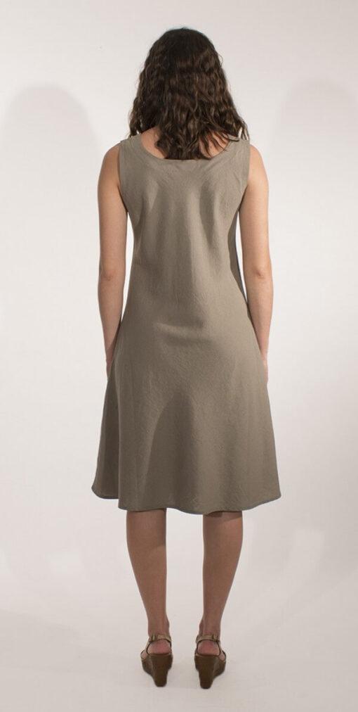Obleka iz viskoze in lanu RO16344 2 -