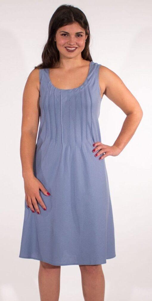 Obleka iz viskoze in lanu RO16344 3 -