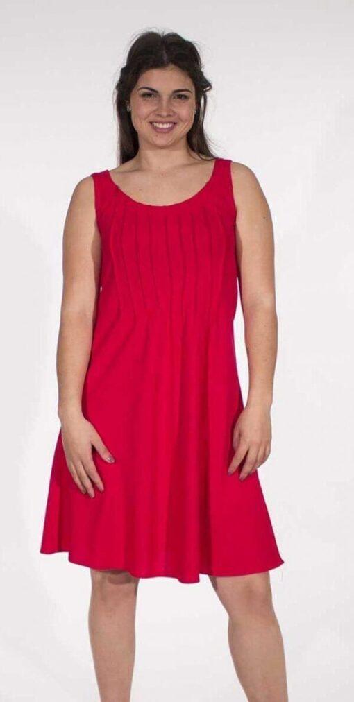 Obleka iz viskoze in lanu RO16344 4 -