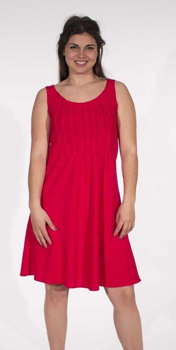Obleka iz viskoze in lanu RO16344 (4)