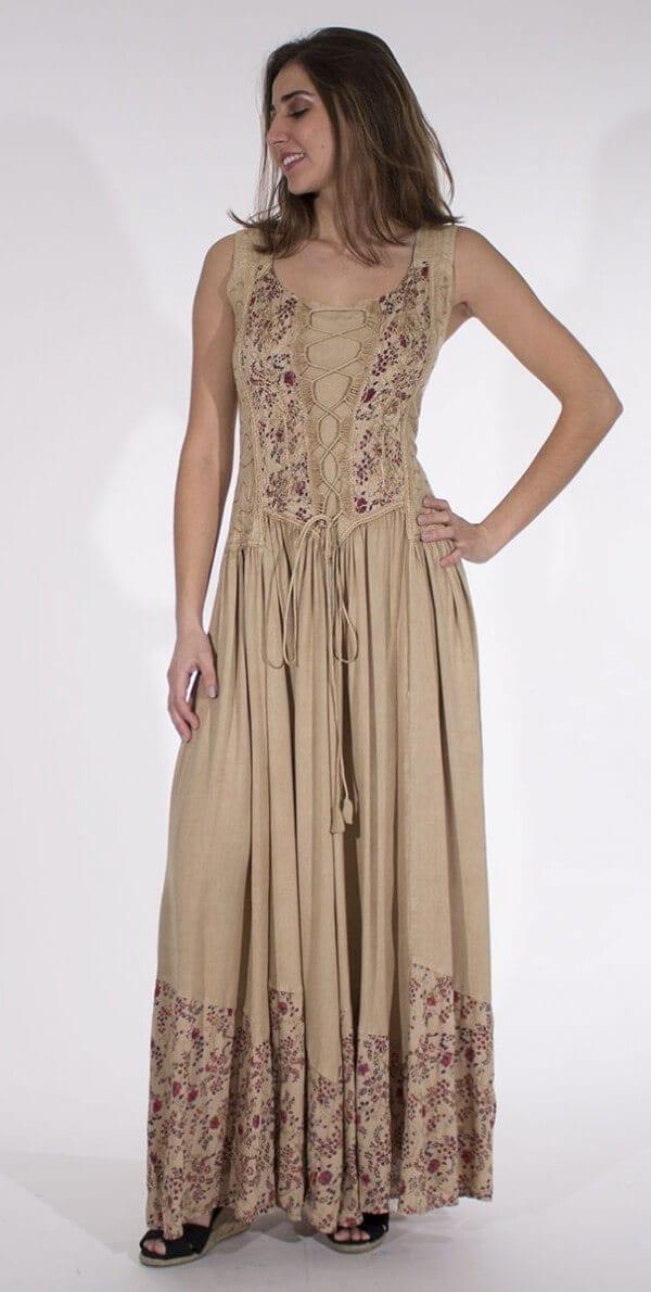 Dolga obleka iz viskoze RO10149 (3)