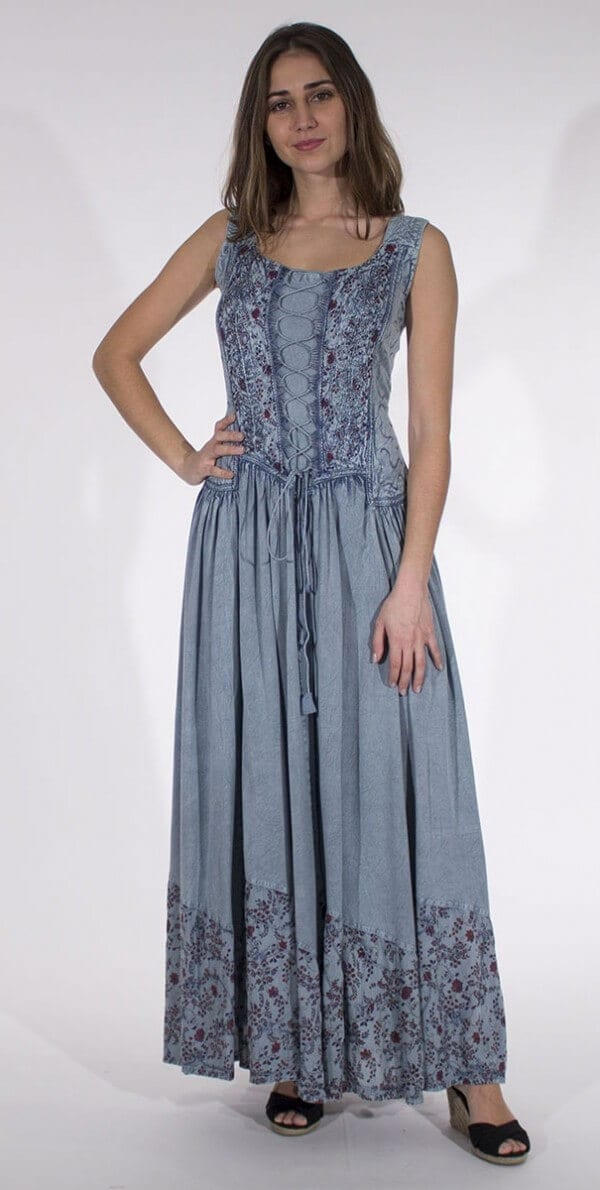Dolga obleka iz viskoze RO10149 (4)