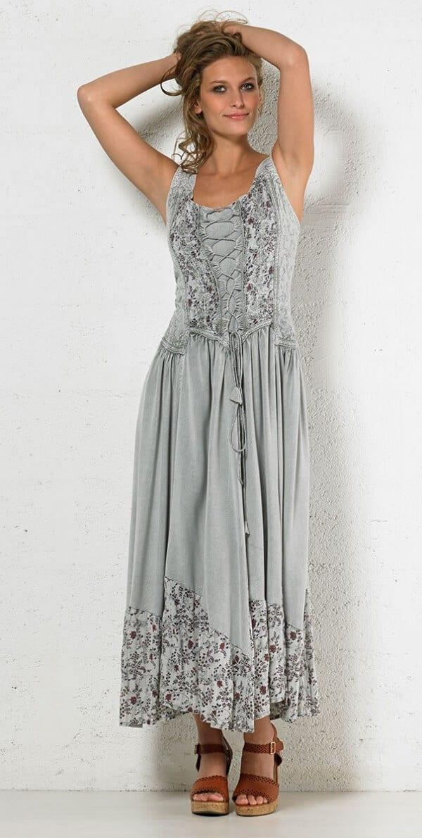Dolga obleka iz viskoze RO10149 (5)