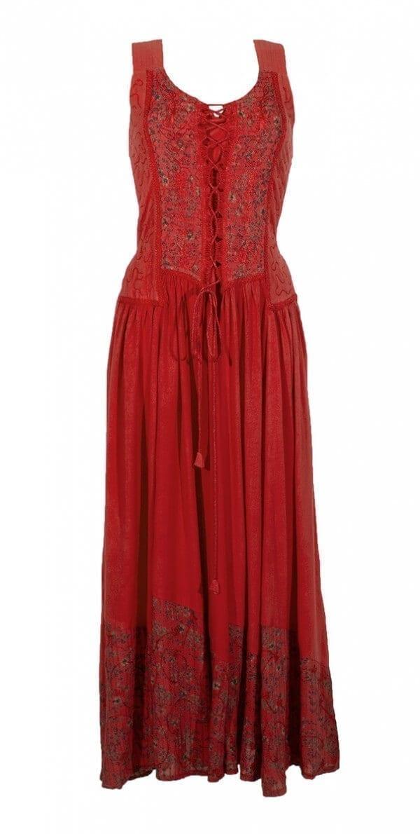 Dolga obleka iz viskoze RO10149 (6)