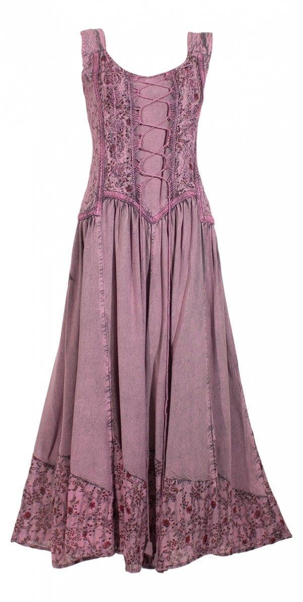 Dolga obleka iz viskoze RO10149 (7)