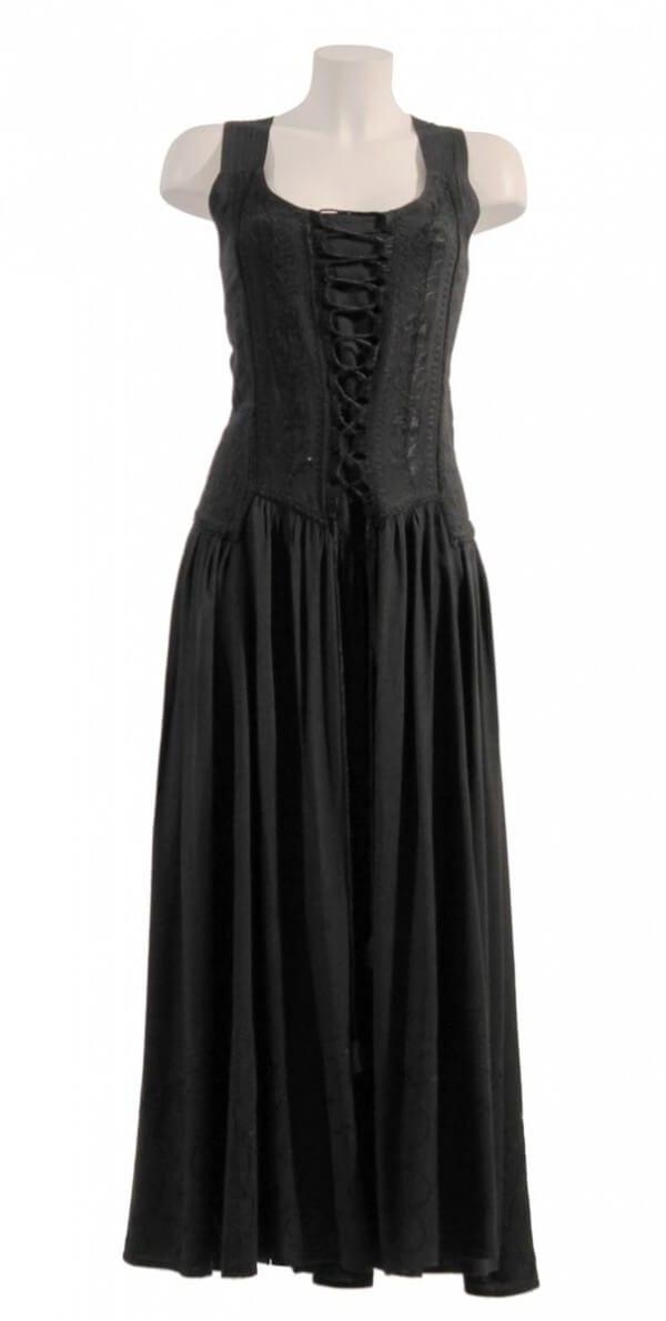Dolga obleka iz viskoze RO10149 (9)