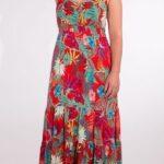 Dolga obleka iz viskoze RO16552 2 -