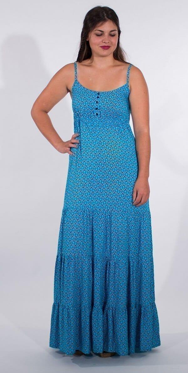 Dolga obleka iz viskoze RO16588 (3)