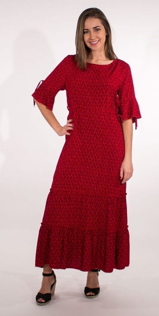 Dolga obleka iz viskoze RO16592 1 -