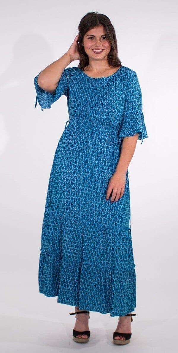 Dolga obleka iz viskoze RO16592 (2)