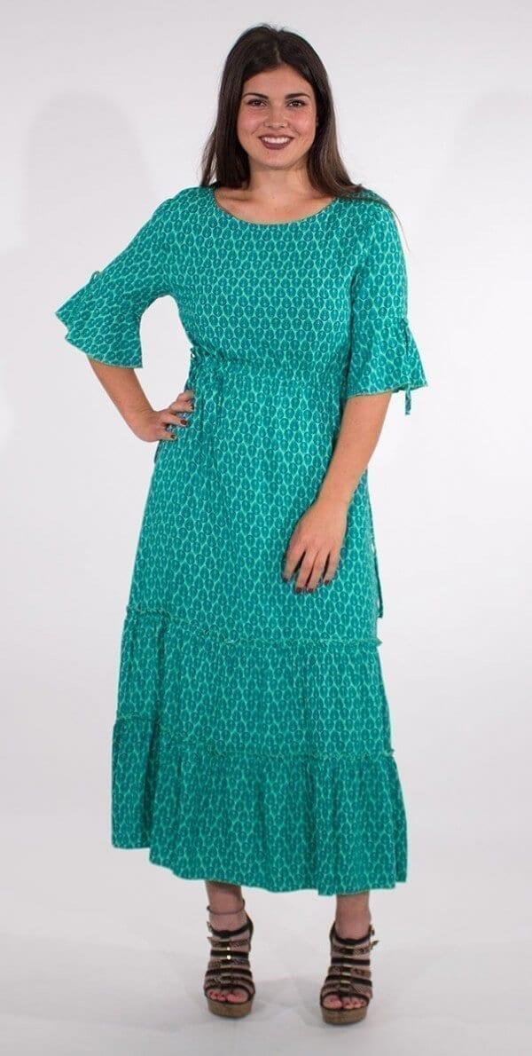 Dolga obleka iz viskoze RO16592 (3)