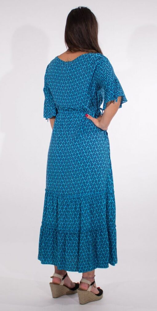 Dolga obleka iz viskoze RO16592 4 -