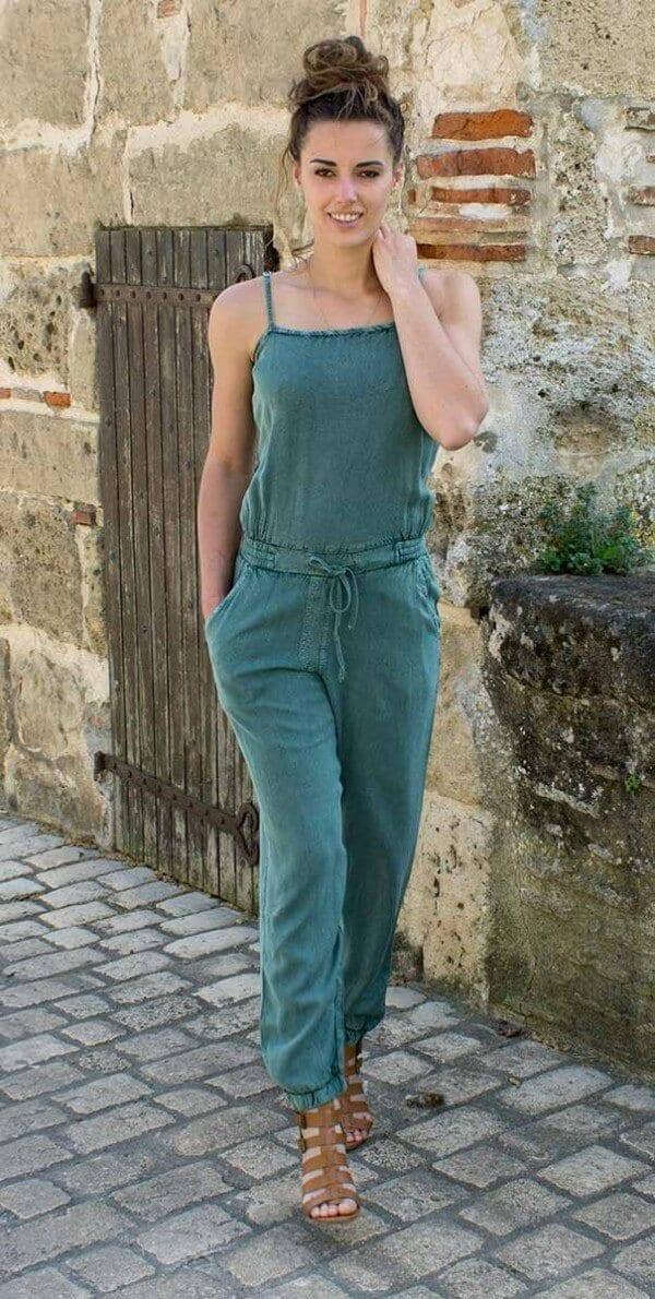 Kombinirane hlače iz viskoze CO15597 (2)