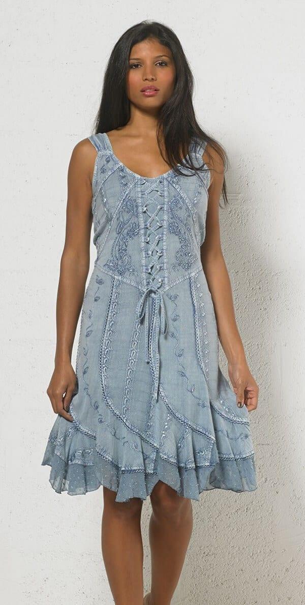 Obleka iz viskoze RO13336 (3)
