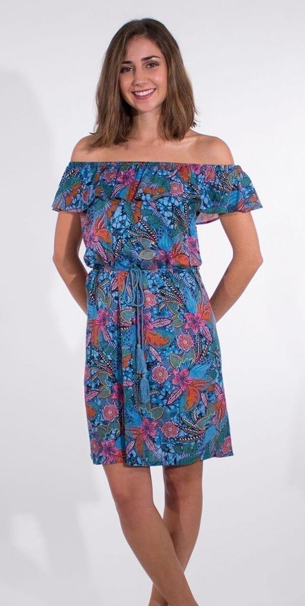Obleka iz viskoze RO16566 (2)