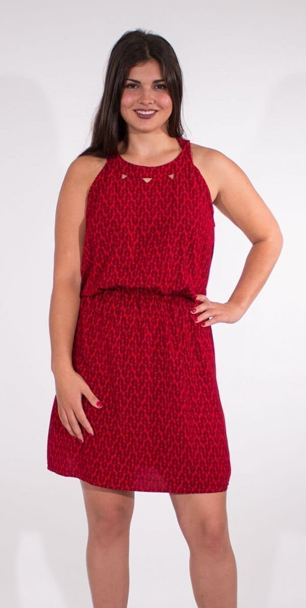 Obleka iz viskoze RO16590 (2)